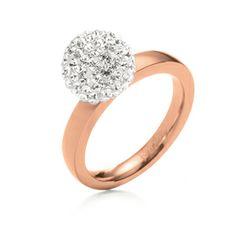 CERIAR Jewelry MATCH & DAZZLE RING -3R0T041RU- Folli Follie stainless steel jewellery rings