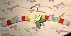 Pretty Crochet Covered Hanger!