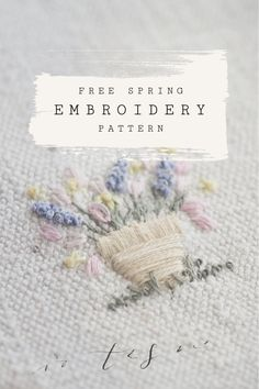 Free Embroidery Pattern: A little Spring cheer — The Stitchery Embroidery Sampler, Embroidery Patterns Free, Silk Ribbon Embroidery, Hand Embroidery Designs, Embroidery Applique, Cross Stitch Embroidery, Creative Embroidery, Machine Embroidery, Embroidery Techniques