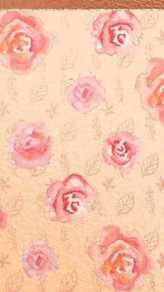Rose Gold Flowere - Cute, girly, flowers, rose gold