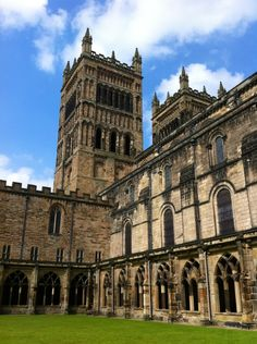 Durham Cathedral courtyard, where scenes from Harry Potter were filmed.