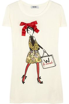 Moschino Cheap and Chic Printed jersey T-shirt