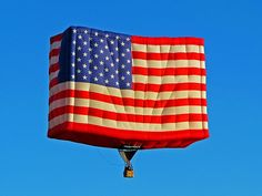 The BEST hot air balloon ever! Patriots Day, Big Balloons, Let Freedom Ring, Hot Air Balloon, Red White Blue, Independence Day, Fourth Of July, Memorial Day, Cool Photos