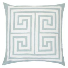 """Athens Pillow 24"""" - Venetian Blue from Z Gallerie    For our new steel gray sectional :)"""