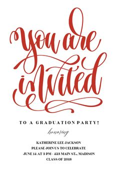 118 best graduation party invitation templates images on pinterest you are invited free graduation party invitation template filmwisefo