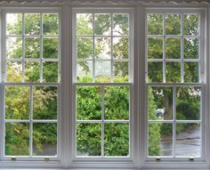 A triple aspect box sash window otherwise known as a Venetian Box, sadly the originals had suffered badly from rot and water ingress. We manufactured new windows copying the original size and profiles incorporating our slim double glazed units. Sash Window Services Ascot Ltd