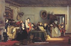 David Wilkie Reading the Will 1820 oil on panel Neue Pinakothek, Munich David Wilkie, Infinite Art, English Country Style, Art Paintings For Sale, Johannes Vermeer, England, Pulsar, Musical, Family History
