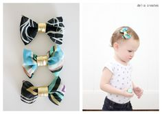 delia creates: five minute easy baby chiffon hair bows