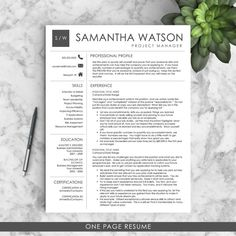 Professional Resume Template for Word US by LandedDesignStudio