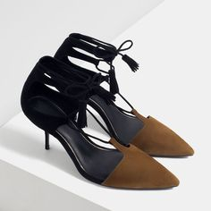 ZARA - WOMAN - MID-HEEL LACE-UP SHOES