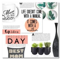 """Mother's Day Gift Guide"" by dolly-valkyrie ❤ liked on Polyvore featuring interior, interiors, interior design, home, home decor, interior decorating, Authentics, Rosanna, Alexandra Ferguson and mothersdaygiftguide"