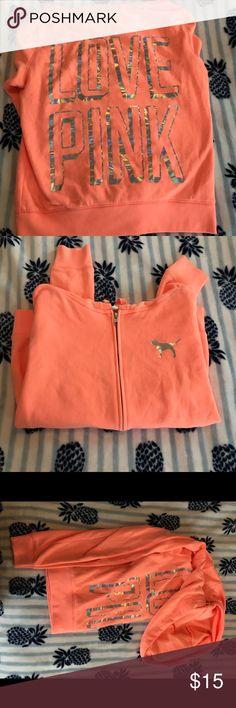 Victoria Secret PINK Zip up hoodie Victoria Secret PINK Zip up hoodie PINK Victoria's Secret Tops Sweatshirts & Hoodies