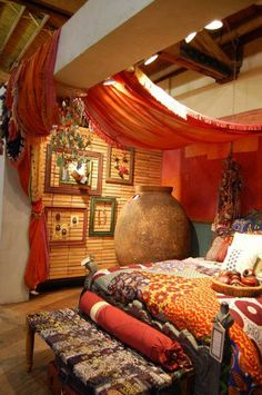 Bedroom , Splendid Boho Bedroom Ideas : Gypsy Boho Bedroom Ideas