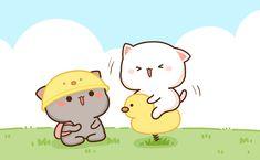 Cute Kawaii Animals, Kawaii Cat, Kawaii Anime, Chibi Cat, Cute Chibi, Cute Bear Drawings, Kawaii Drawings, Cute Images, Cute Pictures