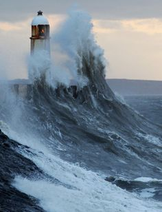 Severe Weather Conditions Hit The UK i would love to be here in the light house. what a thrill