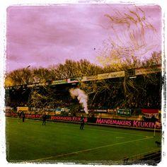 Sfeer op de tribunes, gezien vanaf EE in het Mandemakers Stadion van RKC Waalwijk