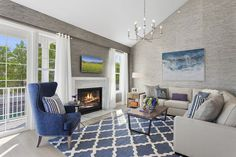 B Model Living Room in Country Pointe at Huntington