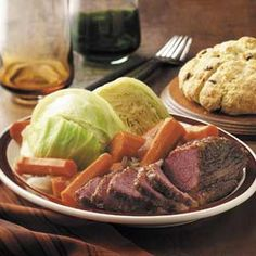 Nothing is more satisfying than the traditional corned beef and cabbage dinner for St. Try these 5 takes on the classic Irish recipe, courtesy of the editors of Taste of Home. Crock Pot Corned Beef, Corned Beef Recipes, Veal Recipes, Corn Beef And Cabbage, Cabbage Recipes, Broccoli Recipes, Irish Recipes, Beef Dishes, Food Dishes