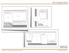 Scrapbook Sketches With Measurements | Scrapbook Page Sketch and Template Bundle: March 19 2010 - Scrapbook ...