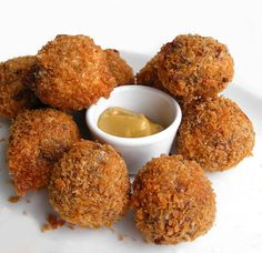 A Tray Of Garnalenkroketten (Dutch Shrimp Croquettes); These start with a roux for a hearty taste.