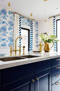 navy blue kitchen wi