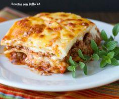 Lasagna mixta Doria Recetas con Pollo YA Ingredientes: 1 paquete de 500 gr de lasagna 50 cc de Aceite 1 Cebolla ...
