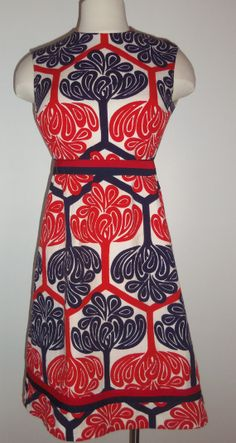 Vintage mod red white and blue by nottooshabbyvintage on Etsy, $55.00