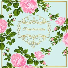 Gold calligraphy decoration with rose background vector 04 - https://www.welovesolo.com/gold-calligraphy-decoration-with-rose-background-vector-04/?utm_source=PN&utm_medium=welovesolo59%40gmail.com&utm_campaign=SNAP%2Bfrom%2BWeLoveSoLo
