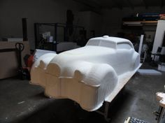 Classic Car prop from EPS machined foam by WeCutFoam