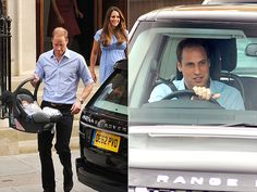 Unlike Prince Charles and Princess Diana, who were chauffeured from the hospital after the births of their sons, William hopped into the front seat (like any nervous new father!) to drive Kate and baby to their home at Kensington Palace. Baby Prince, Royal Prince, Prince And Princess, Princess Kate, Princess Charlotte, Prince George Alexander Louis, Prince Phillip, Prince William Family, Prince Charles