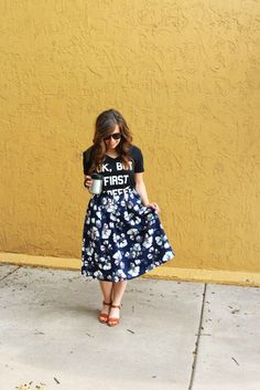 Sometimes Gracefully wearing @Ruche floral skirt