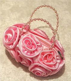 "p girls /"" princess/"" denim style purse in pink or purple"