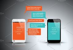 Smart Phone Chat Template by Orson on @creativemarket
