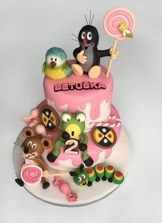 Mole - Cake by Romana Bajerová Woodland Cake, Mole, Themed Cakes, Food And Drink, Birthday Cake, Cupcakes, Christmas Ornaments, Holiday Decor, Desserts