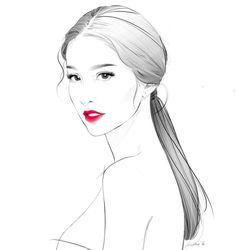 -Fashion Illustrations- 23. Pharmacist/Illustrator. S'pore