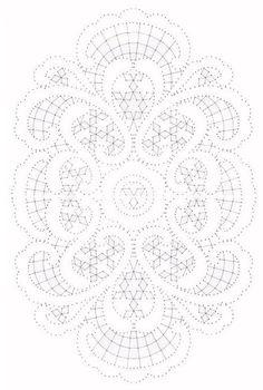 Oval Mat Pricking diagram