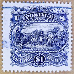 Vintage US Postage Stamps Values | ... stamps USA postage one 1 $ u.s. postage stamps poste $ 1 | Flickr