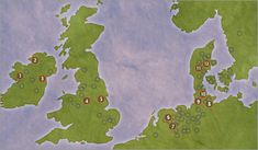 Iron age map - Bogs provide the perfect preservation environment for corpses