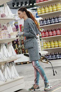 Chanel Supermarket / Chanel Shopping Center / Supermarche. Paris Fashion Week 2014. Grand Palais. Giant jars of jam. Bonbons