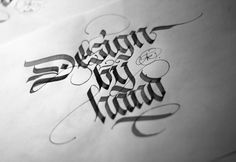 calligraphi.ca - design by hand - calligraphy pen on paper - theosone