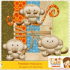 Freebie - Julho - macaco