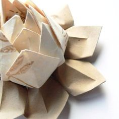 Origami lotus flower ~ for yoga students (etsy)