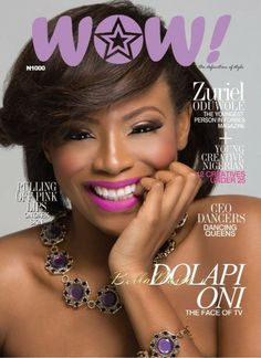 Lolu Rhoda on the cover of WOW Magazine. Worn by the beautiful Dolapo Oni