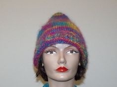 Hand Knit Mohair Blend Kewpie Hat by MadMadameHatter on Etsy
