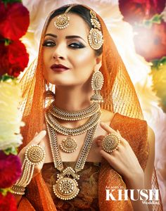 Jewel perfection! Senorita Jewellery is sure to pull your wedding day look together!  273 Dunstable Road  Luton, LU4 8BS +44(0)1582 753 833  Hair & Makeup: Noreen Riaz