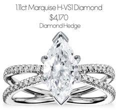 2eba3f56ac71  1.11ct Marquise H-VS1 Diamond for  4