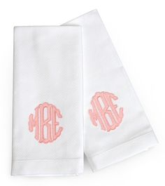 Pair of Scallop Applique Guest Towels - Matchbook Magazine