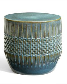 Ceramic Ethnic Accent Table | Everything Turquoise