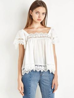 Blusa Branca Decote Quadrado - Compre Online | DMS Boutique