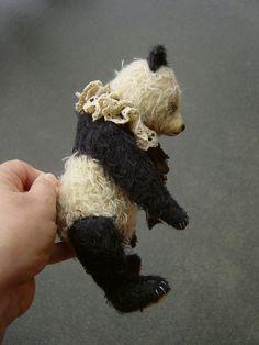 Ivy,Vintage styled Mohair Panda Style Artist Bear by Aerlinn bears.